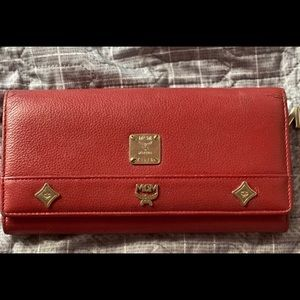 Classic red MCM wallet